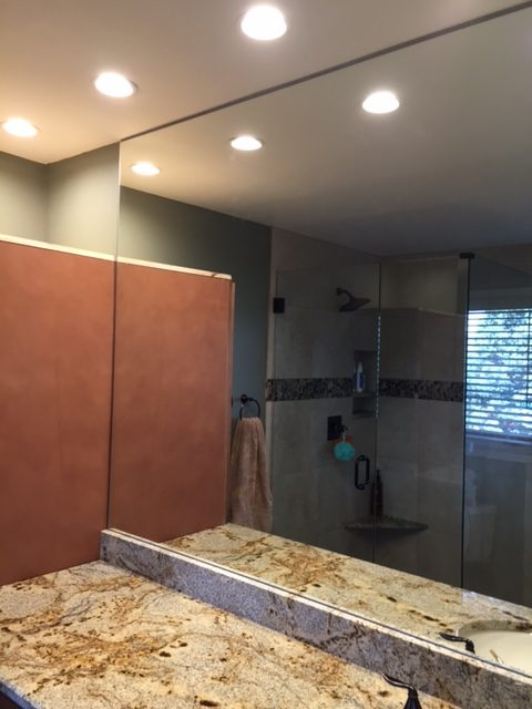 Frameless bathroom mirrors denver 28 images frameless for Dining room inwood wv